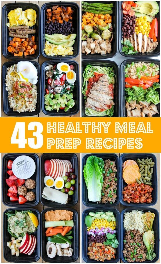 These healthy meal prep recipes for breakfast, lunch, dinner and snacks are super easy to make and so delicious. They'll make your life SO much easier!