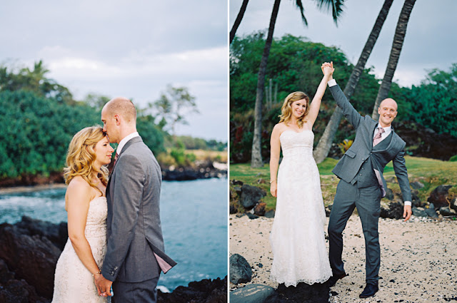 maui wedding photography of the happy bride and groom