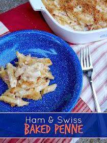 ham and swiss baked penne (sweetandsavoryfood.com)