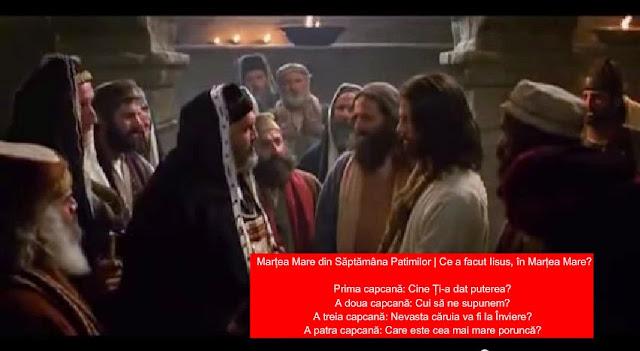 Ce a facut Iisus, in Martea Mare