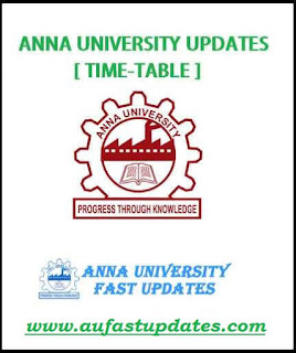 Anna University Arrear Exam TimeTable 2018 for August 2018 (Special Case) - UG/PG