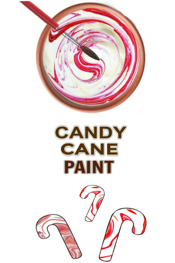 CANDY CANE PAINT RECIPE: perfect for winter arts & crafts, & smells just like Christmas! (Easy recipe) #candycanepaint #candycanecrafts #candycaneactivities #candycaneart #candycaneartprojectsforkids #christmascrafts #christmascraftsforkids
