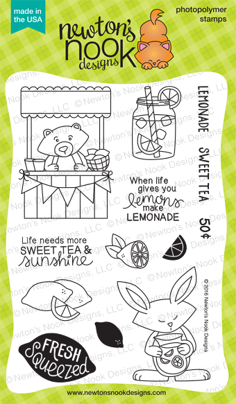 Freshly Squeezed 4 x 6 Lemonade Stand stamp set by Newton's Nook Designs #newtonsnook