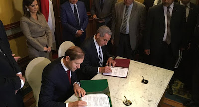اتفاقية إنشاء المنطقة الصناعية الروسية بمحور قناة السويس