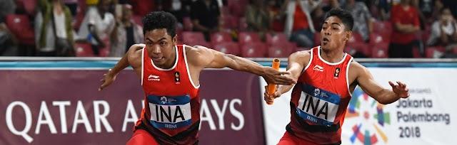 Lalu Zohri dkk Rebut Medali Estafet 4X100 M Asian Games 2018