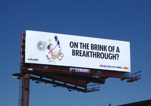 Red Bull On brink breakthrough billboard
