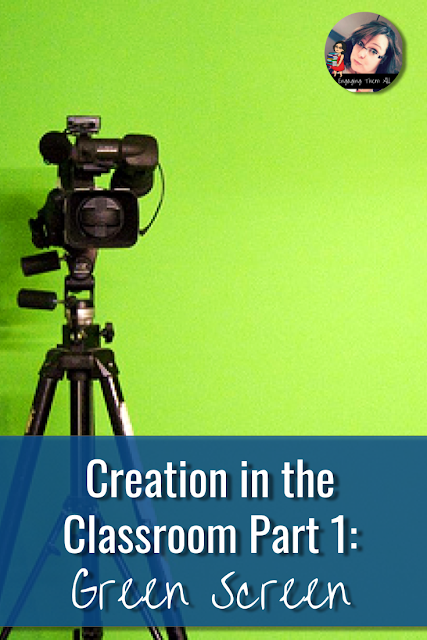 Create GreenScreen videos in your classroom to spark engagement, work on speaking and listening skills, and convey knowledge. This works super well with informational text units!!! #elementary #middleschool