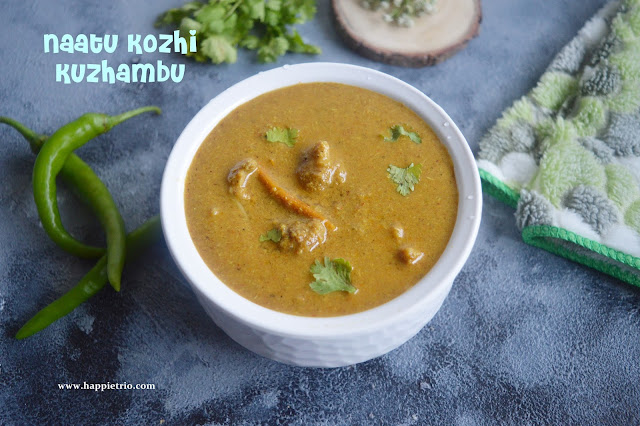 Country Chicken Gravy Recipe | Naatu Kozhi Chicken kuzhambu