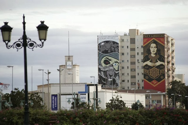 Street Art By British Muralist D*Face For The Maus Malaga Urban Art Event In Spain. 6