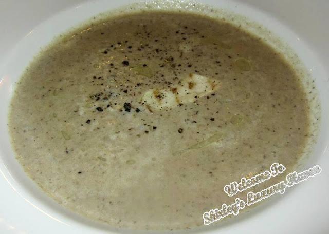 homemade mushroom soup in casa del rio melaka