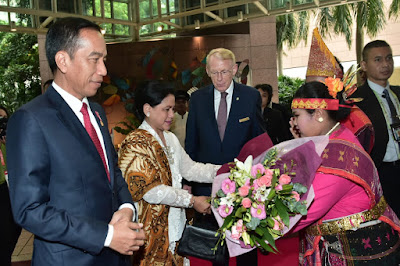 Presiden Jokowi Tiba di Singapura