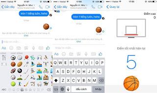 Chơi bóng rổ trên facebook messenger