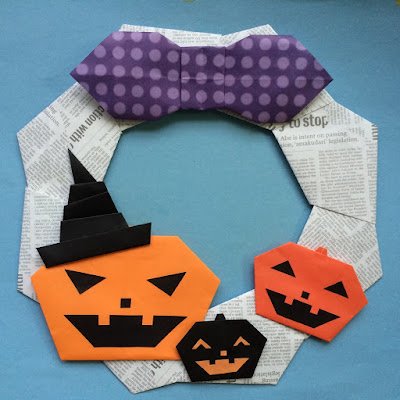 折り紙でハロウィンのかぼちゃ
