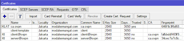 Cara Membuat Certificates di MikroTik RouterOS