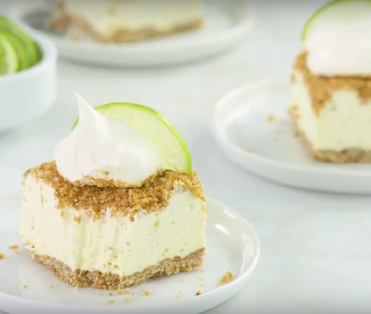 Frozen Key Lime Crunch Cake Recipe