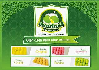 Pancake Durian berbagai rasa dari maidaniipancakedurian.com