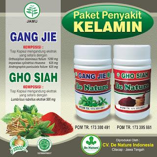 Obat Penyakit Kelamin Gang Jie dan Gho Siah De Nature