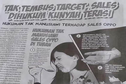 2 Tahun Dihukum Kunyah Terasi, Sales Oppo Lapor Polisi