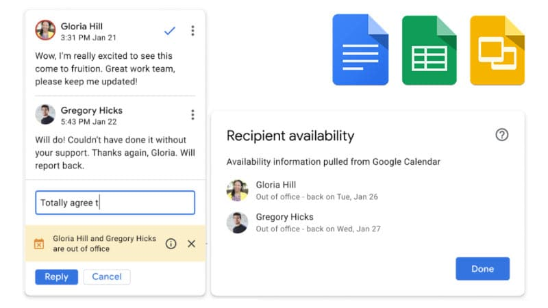 Google Docs will now alert you if someone you tag is out of office