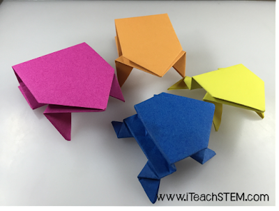 Leap Day only comes around once every four years. I couldn't pass up the opportunity to have students investigate forces, motion, and distance by making their own origami leaping frogs. It ended up being an amazing and engaging integrated STEM lesson for my fifth grade students!