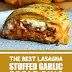 The Best Lasagna Stuffed Garlic Bread Ring #lasagna #garlicbreadring