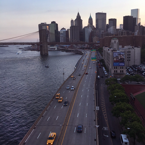 Manhattan Bridge view of FDR Drive