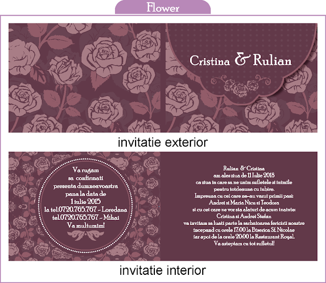 Invitatii Nunta Duble M.A.