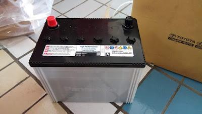 Accu/Aki untuk Toyota Alphard. Panasonic CCA 604A D26(JIS) 70Ah free maintenance
