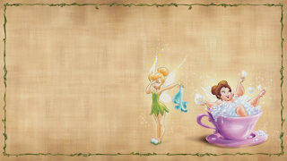 Tinker Bell and the Fairies Free Printable Invitations, Labels or Cards.