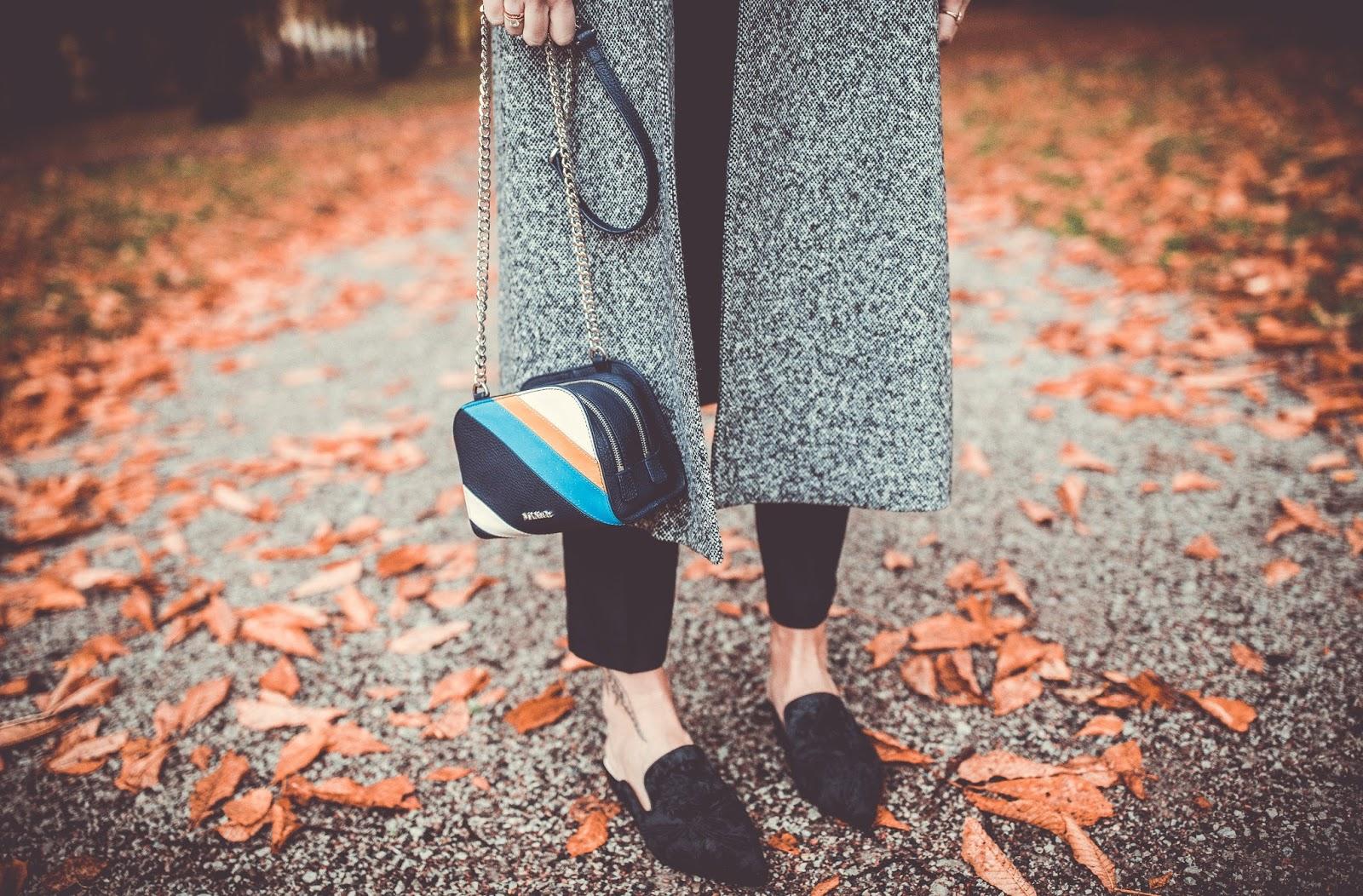 black velvet flat mules outfit