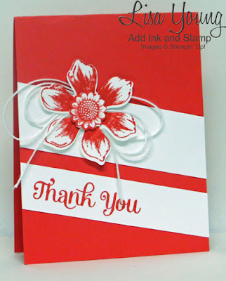 Stampin' Up! Beautiful Bunch stamp set. Handmade thank you card by Lisa Young, Add Ink and Stamp