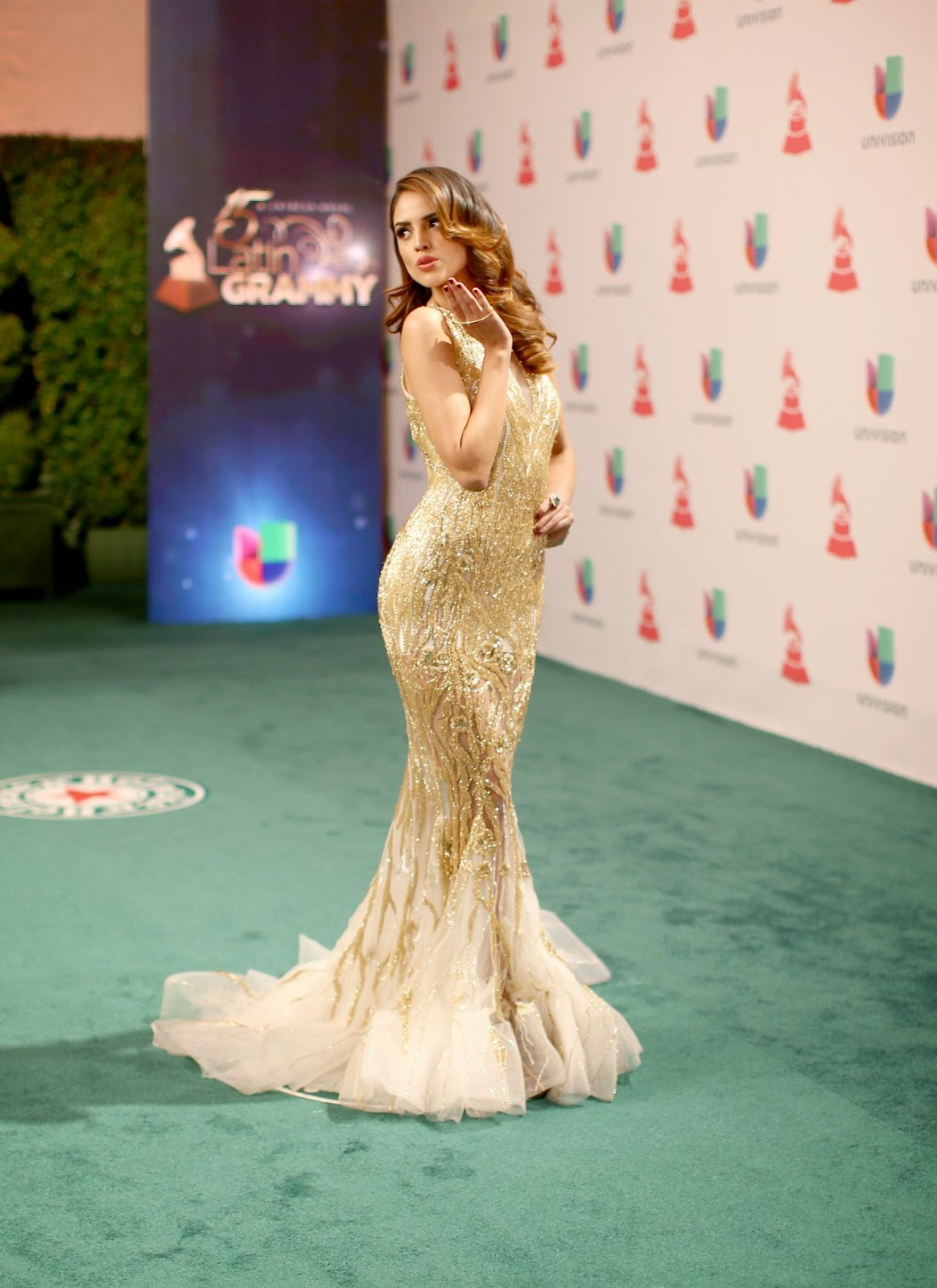Eiza Gonzalez shows off curves at the 2014 Latin Grammy Awards in Las Vegas