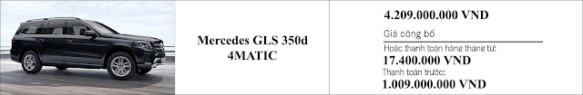 Giá xe Mercedes GLS 350d 4MATIC 2019 nhiều khuyến mãi hấp dẫn