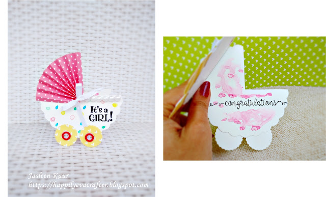 Shaped 'New Baby' cards with Sizzix By Jasleen Kaur