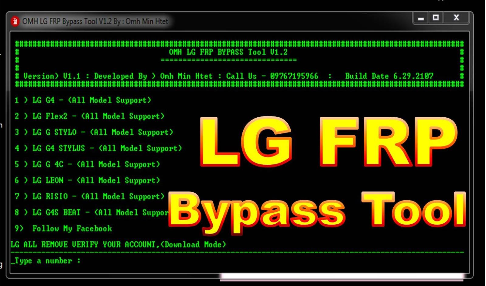 OMH Frp Bypass Tool V1 2 latest Update By MobileflasherBD R Jonaki