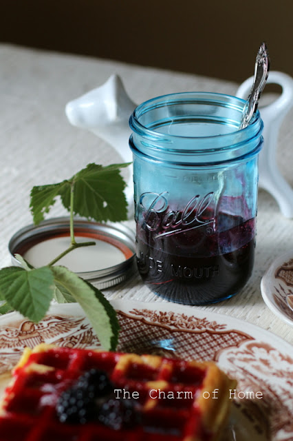 Making Blackberry Syrup: The Charm of Home
