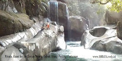 photo lokasi air terjun nyarai Lubuk Alung Padang