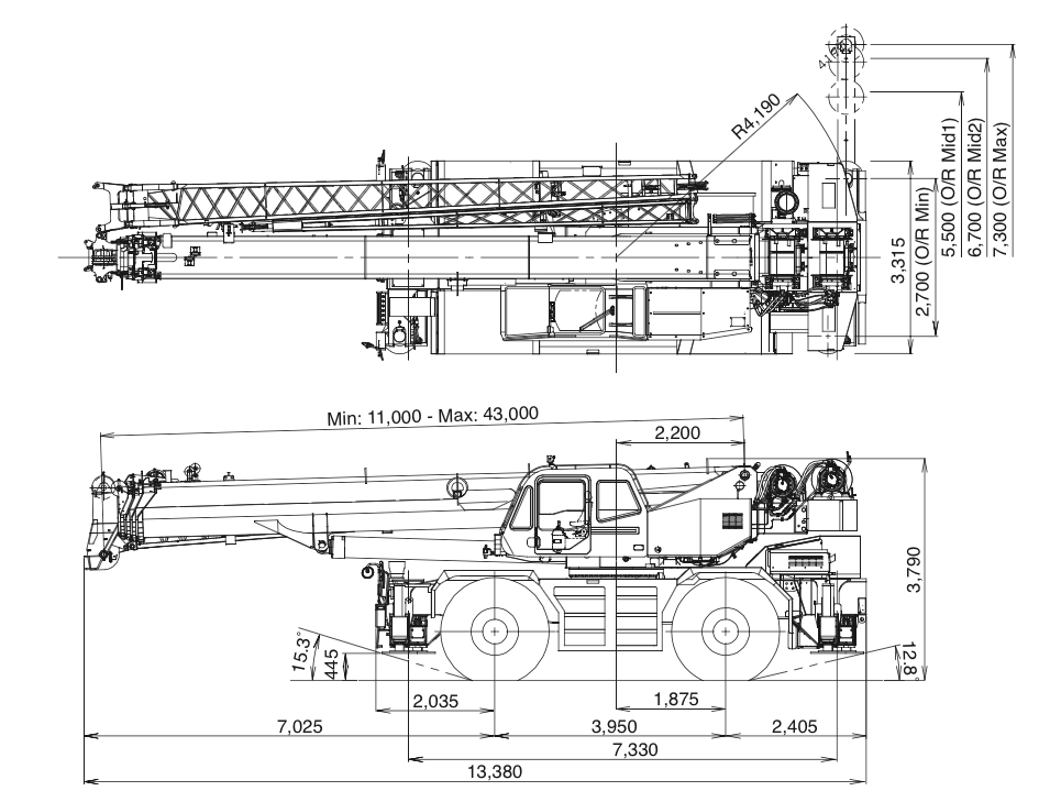 Kato 70t Rough Terrain Crane Load Chart : Rough terrain crane archives page of cranepedia