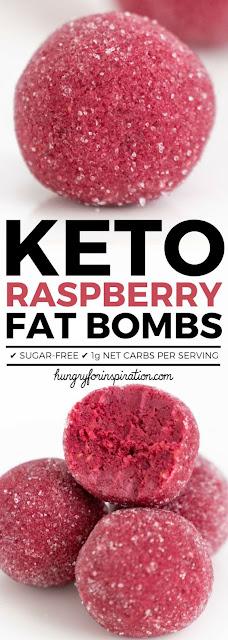 HEALTHY KETO RASPBERRY FAT BOMBS