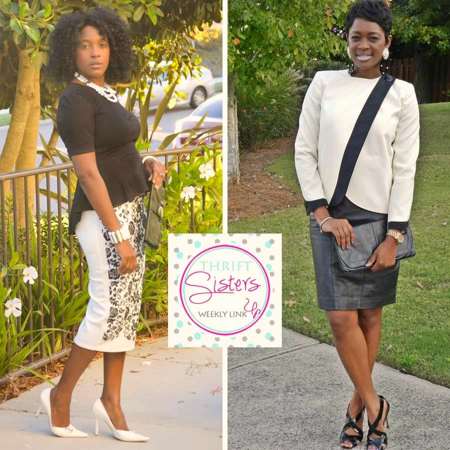 c4e2e964d Two Stylish Kays  Thrift Sisters Link Up  Black and White