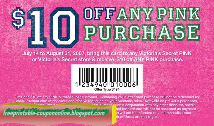 Coupons for victoria's secret printable 2018