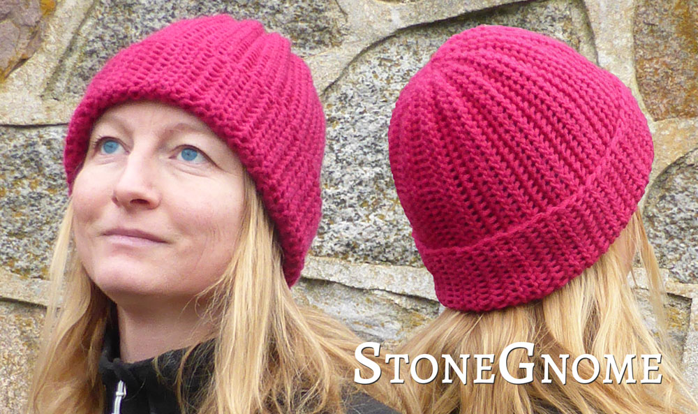 Pattern Sideways Ribbed Hat Stonegnome