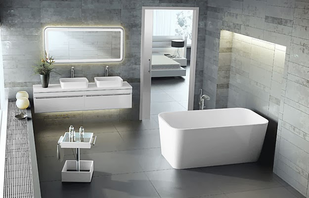 Baño futurista