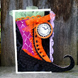 Witches Boot Halloween Card
