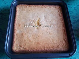 Sponge Cake 3 Telur Empuk Banget tanpa margarin SP soda kue baking powder