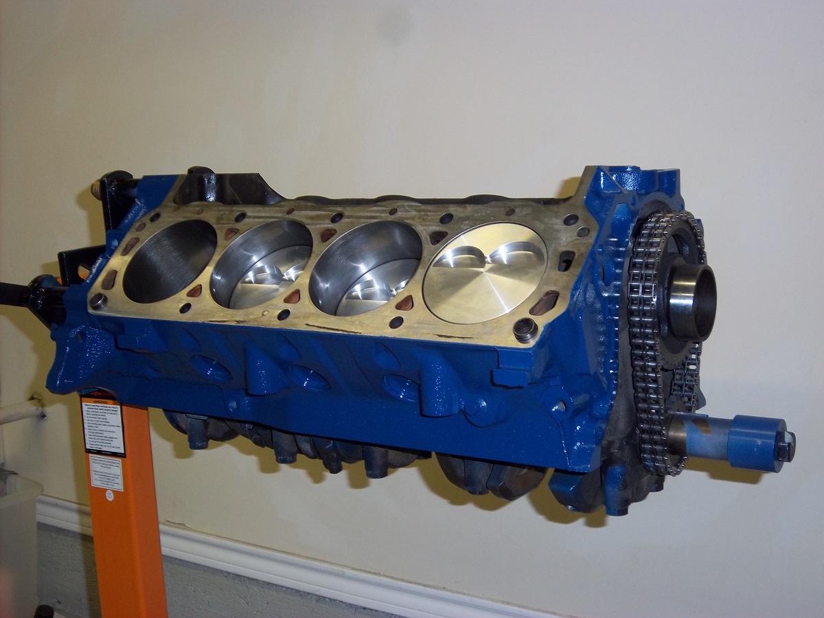 1967 Mustang Restoration Engine Block Painting