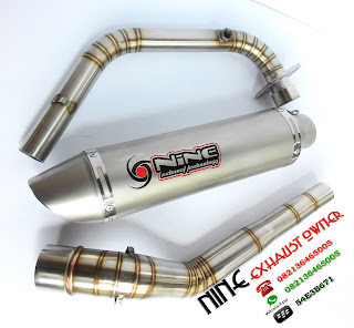 knalpot original nine exhaust , all new cb150 ,