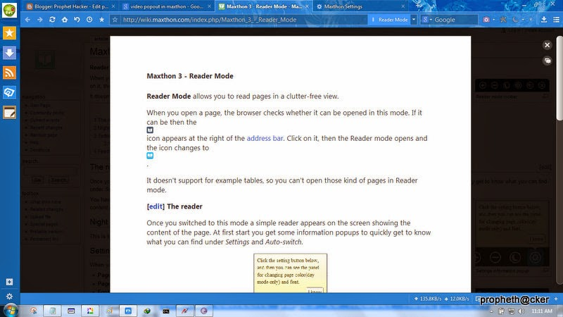 Maxthon Web Browser  Reader mode