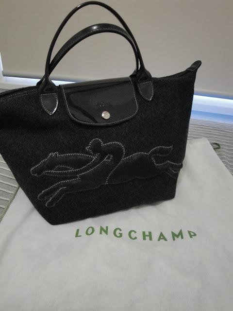 Daphne s Bag Treasures  Longchamp Victoire Wool Duffle Tote 1e8688894ce16