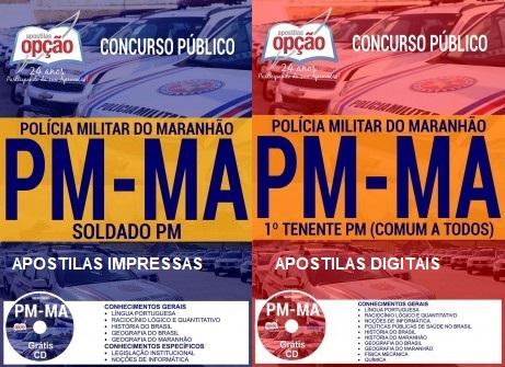 apostila concurso da Polícia Militar do MA Soldado PM 2017